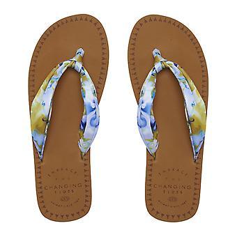 Dierlijke Cilla slippers in snorkel blauw