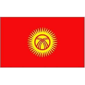 Kyrgyzstan Flag 5ft x 3ft Met oogjes voor Opknoping