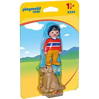 Playmobil 1.2.3 9256 Mann mit Hund