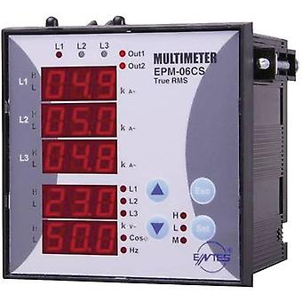 ENTES EPM-06-96 Programmable 3-PHASE BUILD-AC-Multimeter EPM -06-96 Voltage, current, frequency, operating hours, Total Hours
