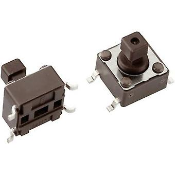 Mentor 1254.1007 Pushbutton 12 V DC 0.05 A 1 x Off/(On) momentary 1 pc(s)