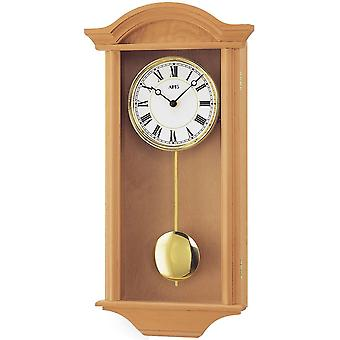 Wall clock wood pendulum clock wall clock with pendulum quartz solid wood Alder