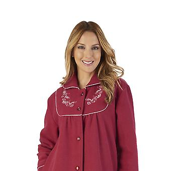 Slenderella HC2326 Women's Boucle Fleece Floral Robe Loungewear Bath Dressing Gown
