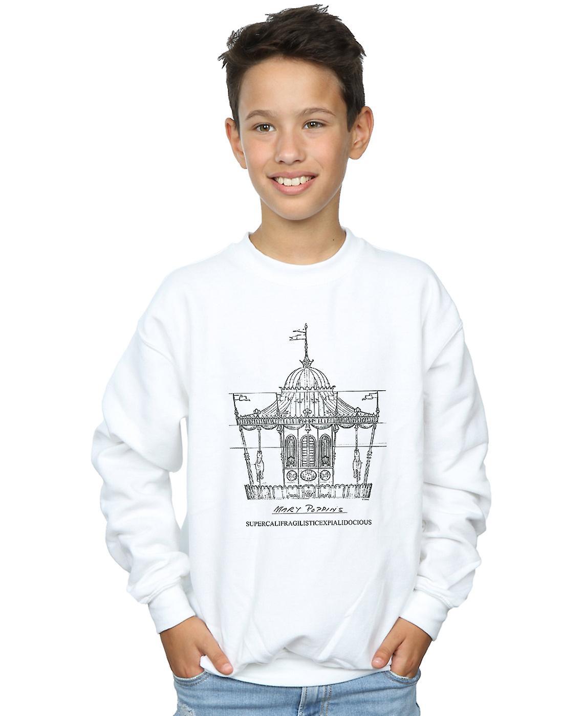 Disney Boys Mary Poppins Carousel Sketch Sweatshirt