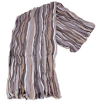 Knightsbridge cravatte a righe sciarpa di cotone - Beige/marrone