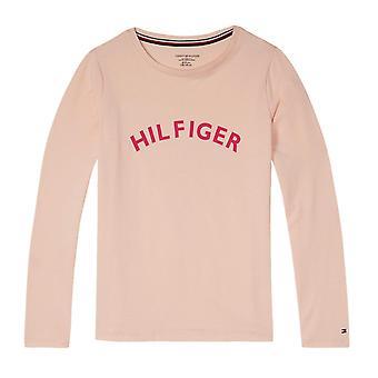 Tommy Hilfiger meninas negrito longa camiseta manga - rosa