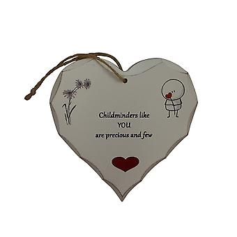 Childminder Heart Plaque