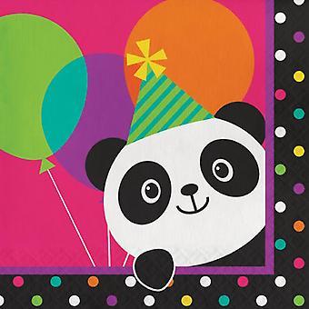 Panda party napkins 33 x 33 cm 16 piece Panda party birthday decoration