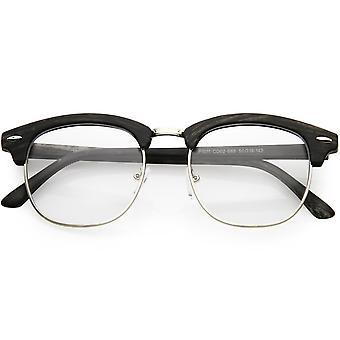 Semi clássico sem aro buzina margeadas lente de óculos de sol quadrado 49MM