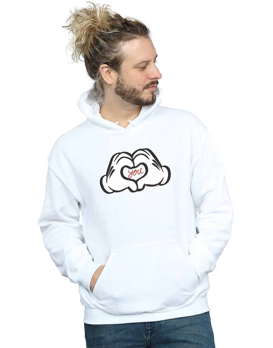 Disney Men's Mickey Mouse Loves You Hoodie