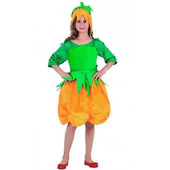 Kinder Kostüme Kürbis Kleid für Mädchen