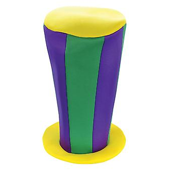 Mad Hatter Tall Hat. Purple/Green/Yellow