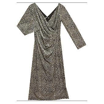 GINA BACCONI Dress 2074 Black With White