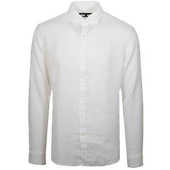 Michael kors hvit lin skjorte