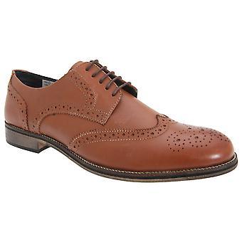 Roamers miesten nahka 5 Eyelet Brogue kengät