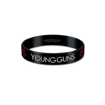 Official Young Guns Wristband Logo Bones new 17mm Rubber
