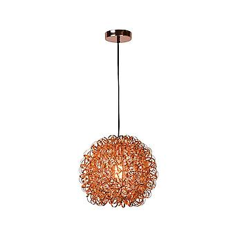 Lucide Noon Modern Round Aluminum Copper Pendant Light