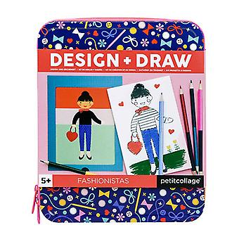 Petit Collage Design & Draw Travel Activity Kit