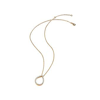 Kaytie Wu Gold Plated Water Drop Necklace With Swarovski Crystals 28005