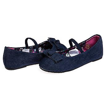 Chatties niñas niñas denim Ballet Flats