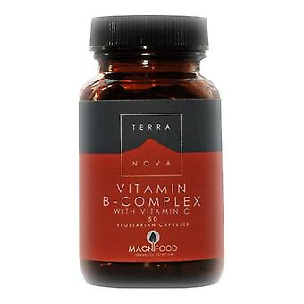 Terranova B-Complex with Vitamin C Vegicaps 50 (T0196)