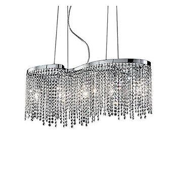 5 lumière plafonnier pendentif chrome