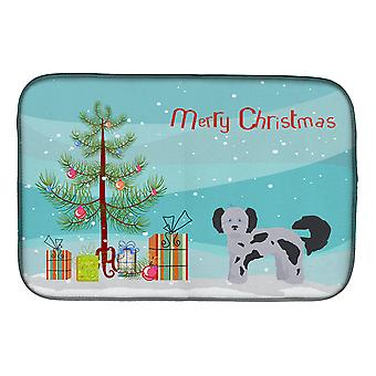 Carolines Treasures  CK3872DDM Shih Poo Christmas Tree Dish Drying Mat