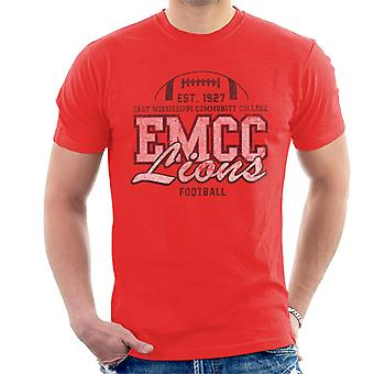 East Mississippi Community College Distressed Dark Lions Football Men's T-Shirt
