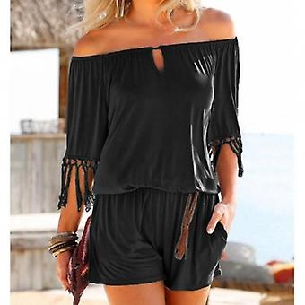 Tassel Beach Boho Short Jumpsuits