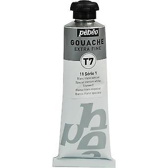 Pebeo Extra Fine T7 guassi maali 60ml tuubi (erityinen titaani valkoinen)