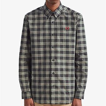 Fred Perry M7557 Tartan L/s Shirt Charcoal