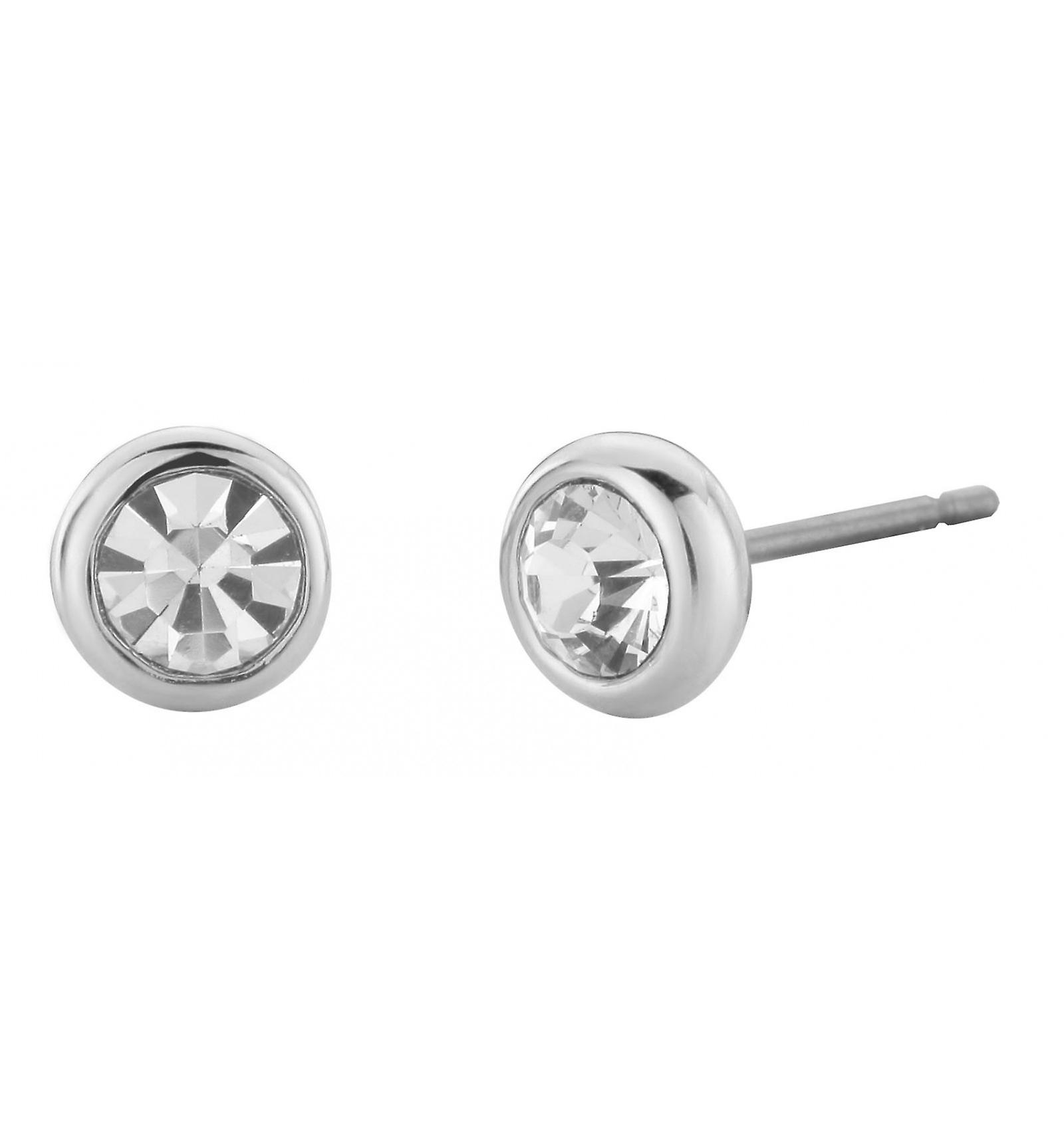 Traveller pierced earring - rhodium plated - 145081