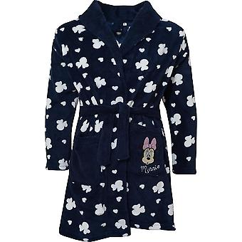 Girls HS2098 Disney Minnie Mouse Coral Fleece Dressing Gown