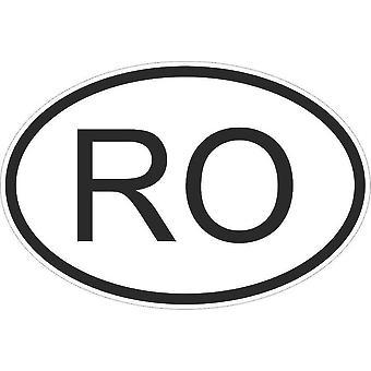 Pegatina pegatina Pegatina Bandera Oval Código País Moto coche Rumania Rumano Ro