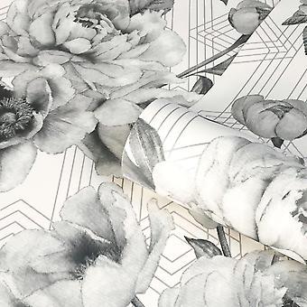 Stella geometrische bloemen behang Belgravi