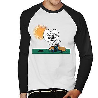 Krazy Kat Sunny Day Men's Baseball Long Sleeved T-Shirt