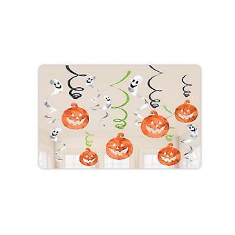 Amscan Halloween Pumpkins & Ghosts Swirl Decorations