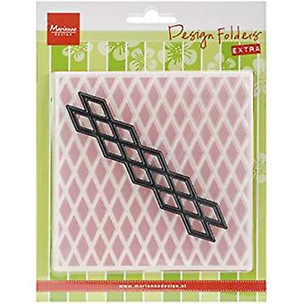Marianne Design Diamonds Embossing Folder and Cutting Die