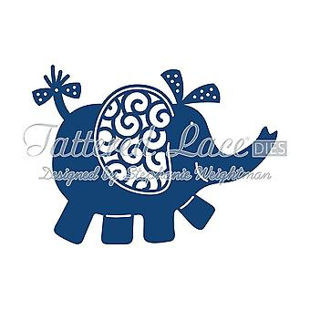 Elephant (Baby): Tattered Lace Metal Die Paper Card Stephanie Weightman