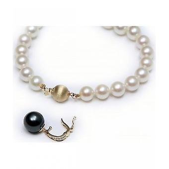 Luna-parels Akoya Parel ketting met Tahiti Pearl en diamanten HKS133