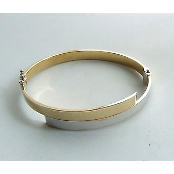 14 carat Christian Gold bicolor slave bracelet