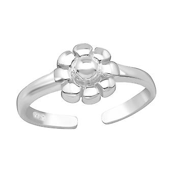 Flower - 925 Sterling Silver Toe Rings - W4847x