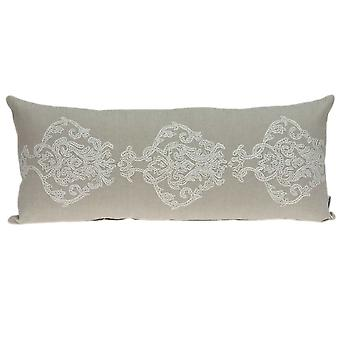 """28"""" x 6"""" x 12"""" Transitional Beige Pillow Cover With Poly Insert"""