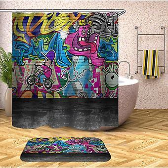 الملونة الكتابة على الجدران الجدار الفن دش الستار