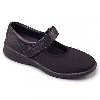 Padders Sprite 2 Ladies Leather Extra Wide (3e/4e) Shoes Black