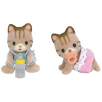 Sylvanian Families - Striped Cat Twins Toy