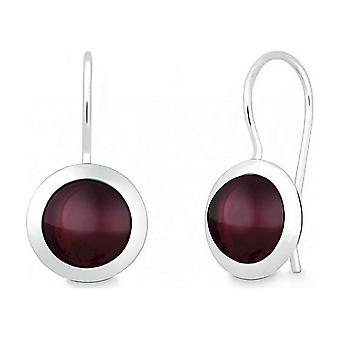 Quinn - Silver earrings with garnet - 035839963