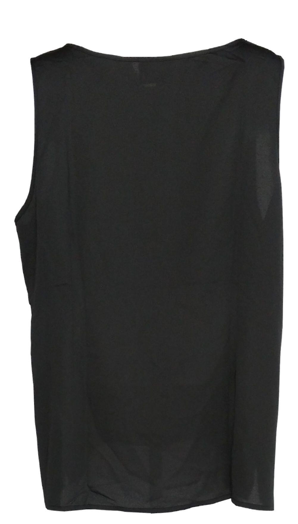 Linea by Louis Dell'Olio Women's Plus Top Round Neck Tank Black A306342