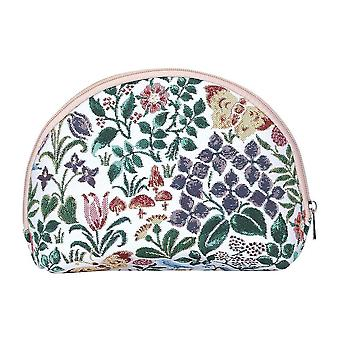 Voysey - spring flowers big cosmetic bag by signare tapestry / bgcos-spfl