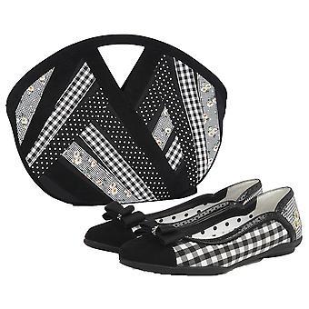 Ruby Shoo Women's Lizzie Ballerina Pumps & Matching Dallas Bag